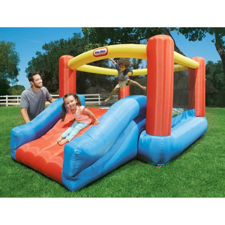 Little Tikes Jr Jump N Slide Inflatable Bounce House Walmart