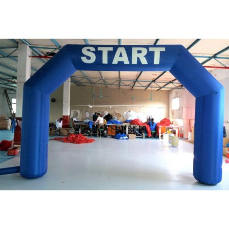 20 Foot Blue Inflatable Arch Archway Marathon Race Running Start Finish With Fan for $<!---->