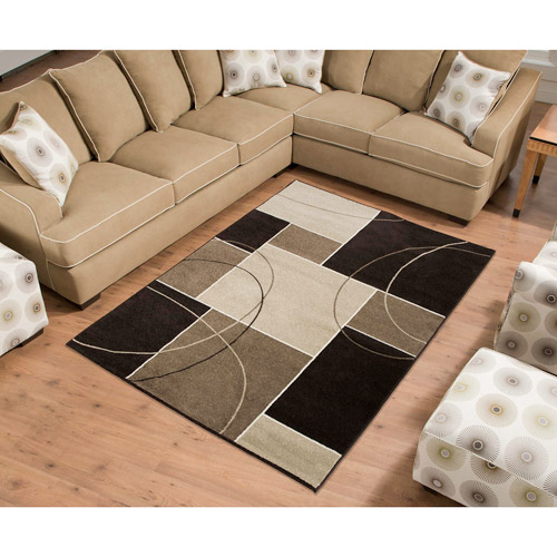 Casa Tile Woven Olefin Rug, Brown/Beige