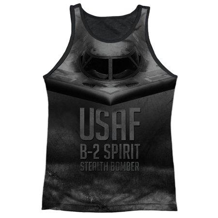 U.S. Air Force B-2 Spirit Stealth Bomber Adult Black Back Tank Top