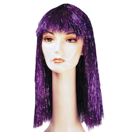 Lacey Wigs LW206PK Pageboy Long Tinsel Wig - Pink - image 1 de 4