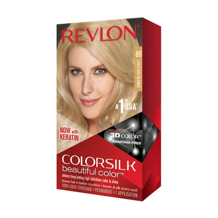 Revlon ColorSilk Beautiful Color™ Hair Color, Light Ash