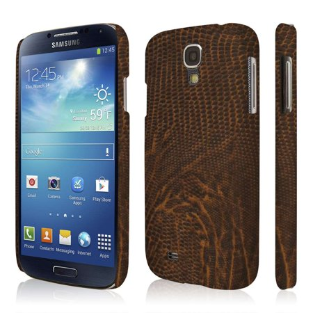 Croc Leather (Galaxy S4 Leather Wallet Case, EMPIRE KLIX Slim-Fit Hard Case for Samsung Galaxy S4 I9500 / I905 / L720 / I337 / I545/ / M919 / R970 - Brown Leather Croc)