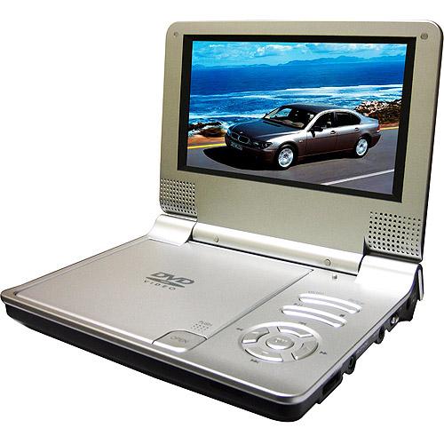 """Sylvania 7"""" Portable DVD Player, SDVD7014 Silver - Walmart.com"""