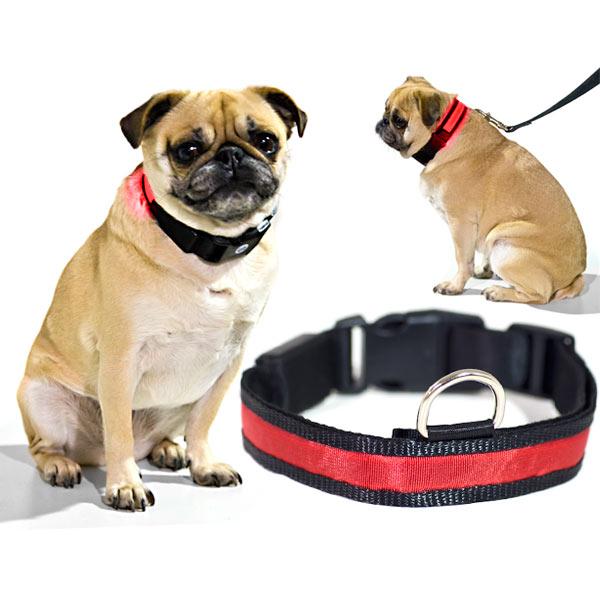Αποτέλεσμα εικόνας για LED Pet Collar Night Safety Dog Flashing Collar red