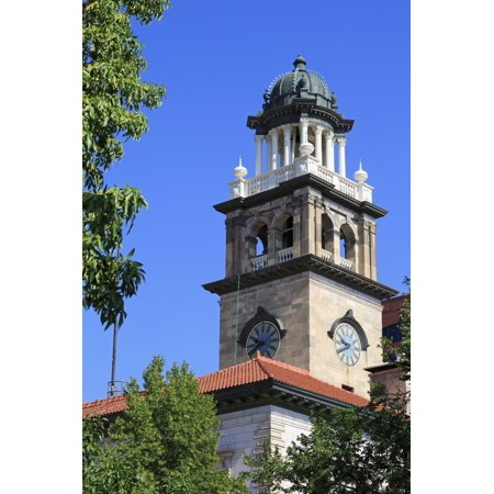 Clock Tower on the Pioneers Museum, Colorado Springs, Colorado, United States of America Print Wall Art By Richard Cummins (Party America Colorado Springs)