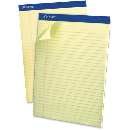 Ampad Legal Pad - Ampad, TOP20420, Top-bound Green Tint Ruled Writing Pads, 1 Dozen