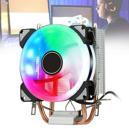 CPU Cooler Cooling Fan & Heatsink For AMD Socket AM2 AM3 Core i3 i5 i7,Aluminum RGB CPU Cooling with Silent (Best Core I5 Cpu Cooler)