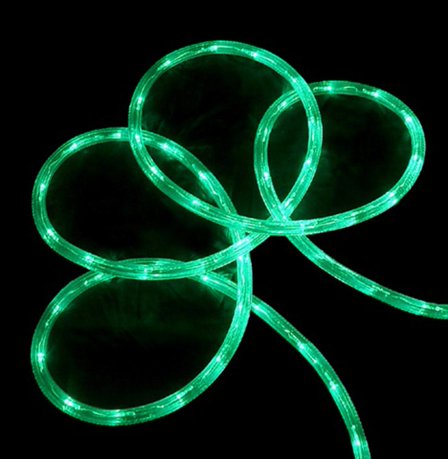 18 green led indooroutdoor christmas rope lights 2 bulb spacing mozeypictures Images