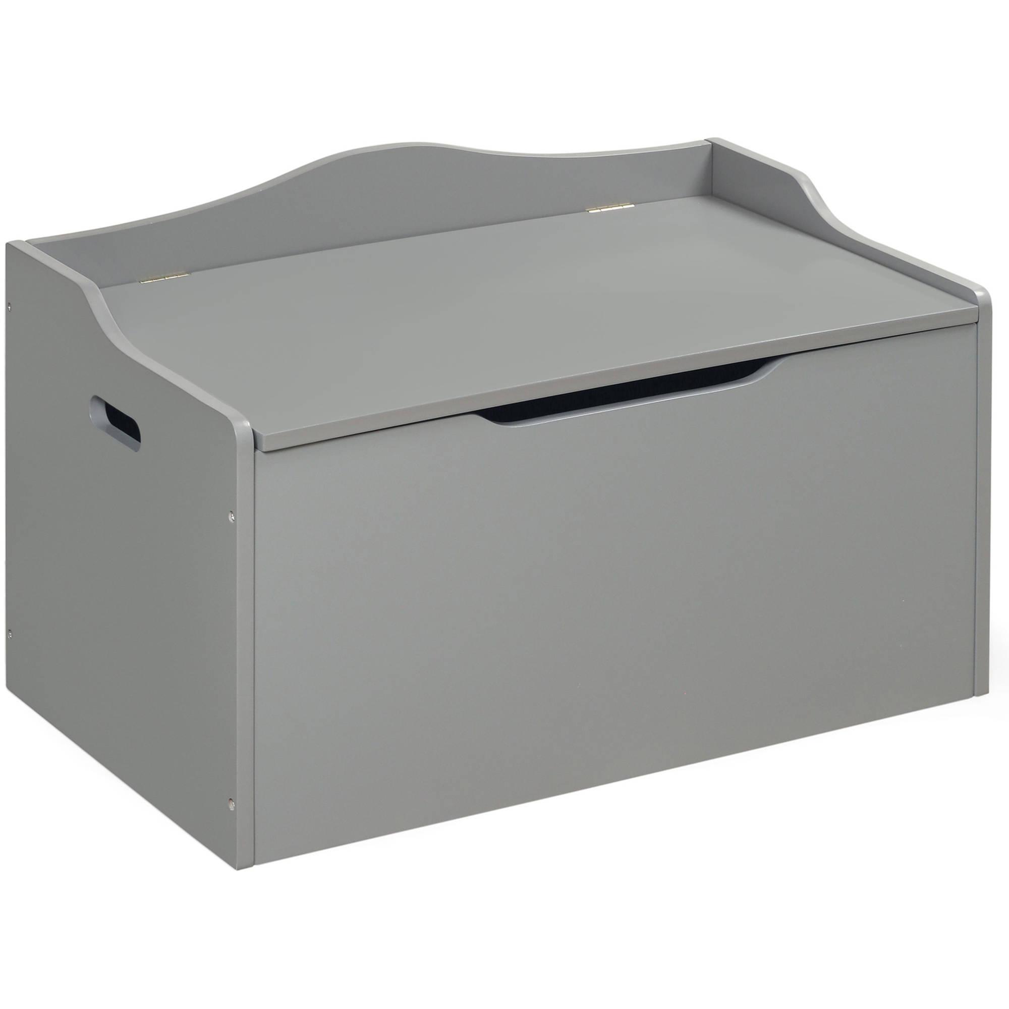 Badger Basket Bench Top Toy Box, Gray by Badger Basket