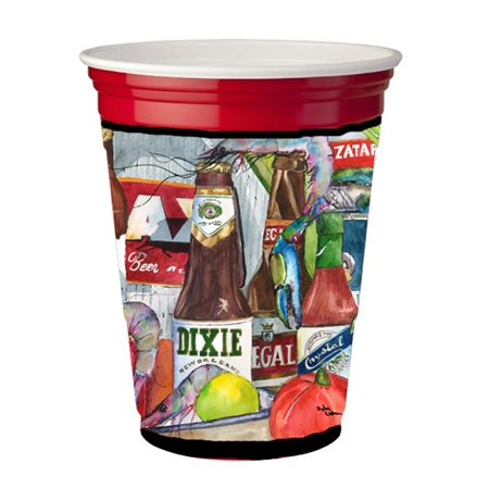 Carolines Treasures 1017-2RSC Nouvelle-Orl-ans Beers and Spices Red Solo Cup Hugger - image 1 de 1