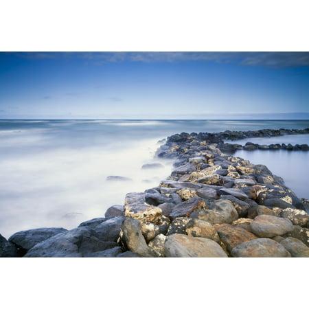 Rocks Along The Coast Of Lydgate Beach Park Lydgate Kauai Hawaii United States Of America Posterprint