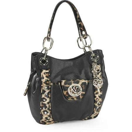 39e7cacecb8b Kathy Van Zeeland - Women s Dome Satchel Handbag - Walmart.com