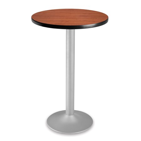 CFT24RD-CHY_3 Restaurant Furniture 24 Inch Round Folding Cafe flip-down mechanism rotate Cherry top counter Height Table