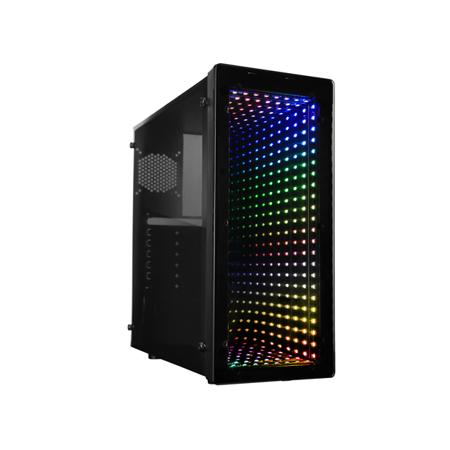 Raidmax Galaxy ATX Mid Tower PC Gaming Computer Case with Front Panel ARGB LED Mirror