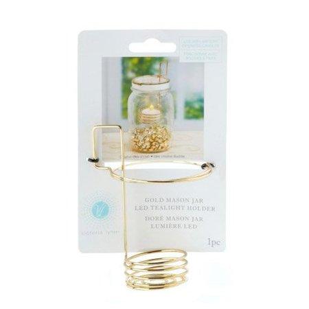 "Victoria Lynnâ""¢ Mason Jar Tea Light Holder - Gold Wire x 3 (3 Store Victoria)"