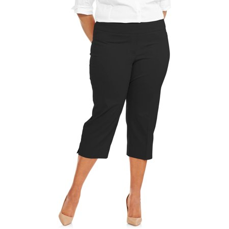 Stretch Seersucker Crop Pants (Women's Plus Size Stretch Woven Cropped Pant )