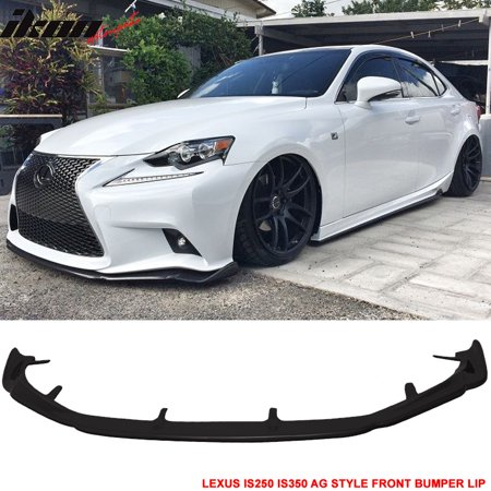 Fits 14-16 Lexus IS250 IS350 F Sport Only AG Style Front Bumper Lip  Urethane PU
