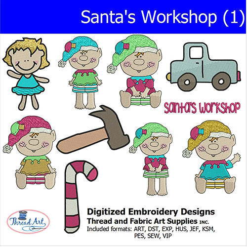Threadart Machine Embroidery Designs Santa's Workshop (1) CD