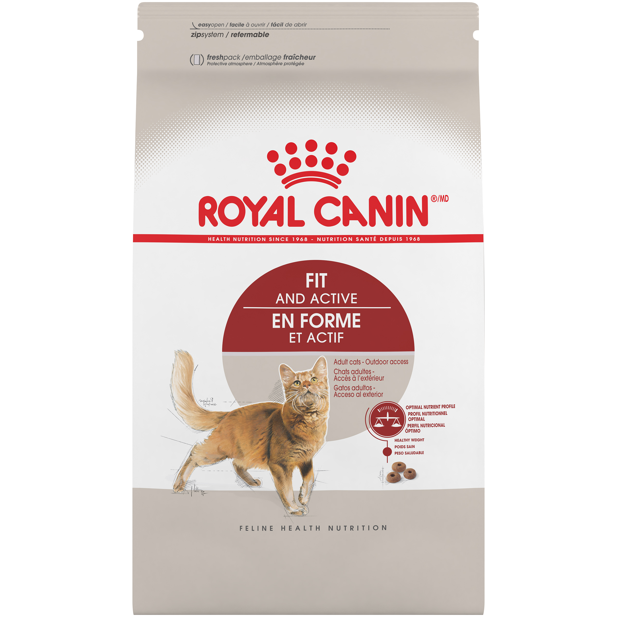 Royal Canin Adult Fit & Active Dry Cat Food, 7 lb
