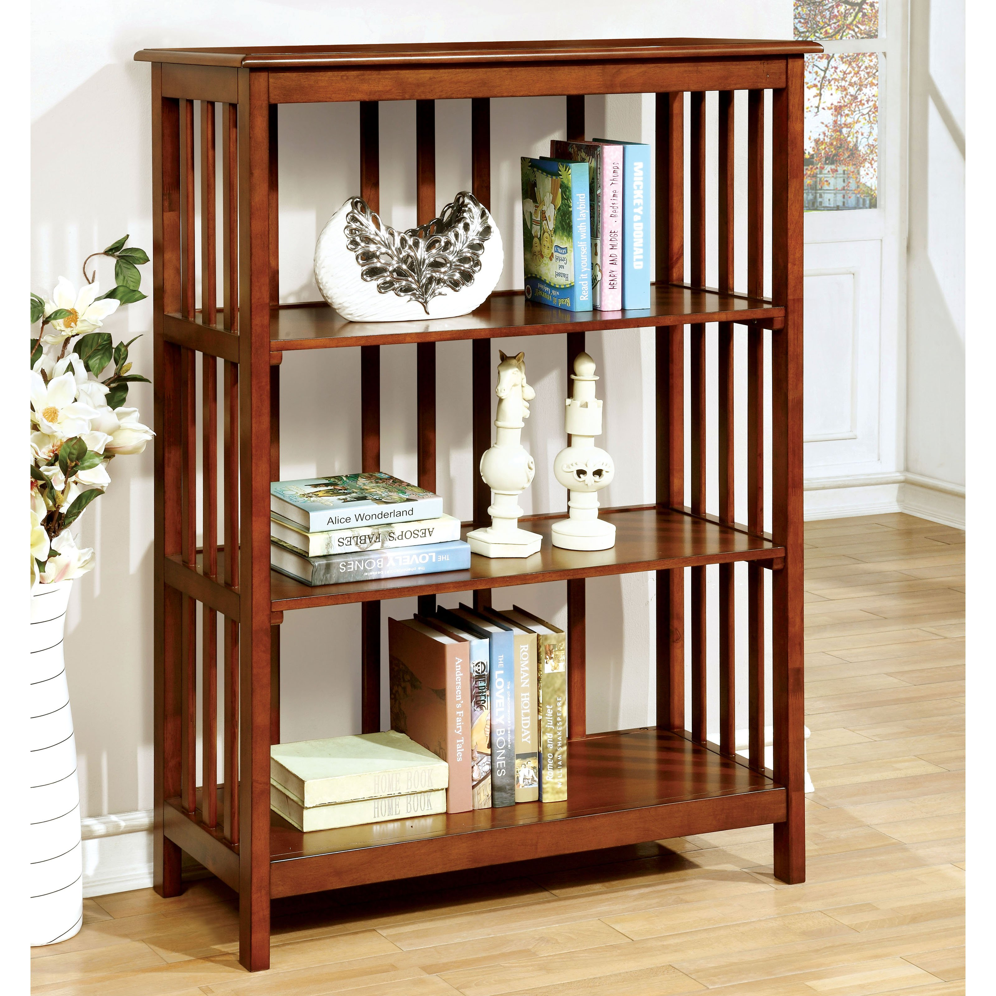 Furniture of America Miranda 4-Tier Mission Bookcase