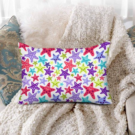 GCKG Seamless Pattern Funny Starfishes Sea Ocean Summer Pillow Cases Pillowcase 20x30 inches - image 2 of 4
