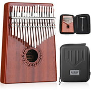 GECKO Kalimba 17 Keys Thumb Piano with Waterproof Protective Box,Tune Hammer and Study Instruction,Portable Mbira Sanza Finger Piano,Gift for Kids Adult Beginners Professional.