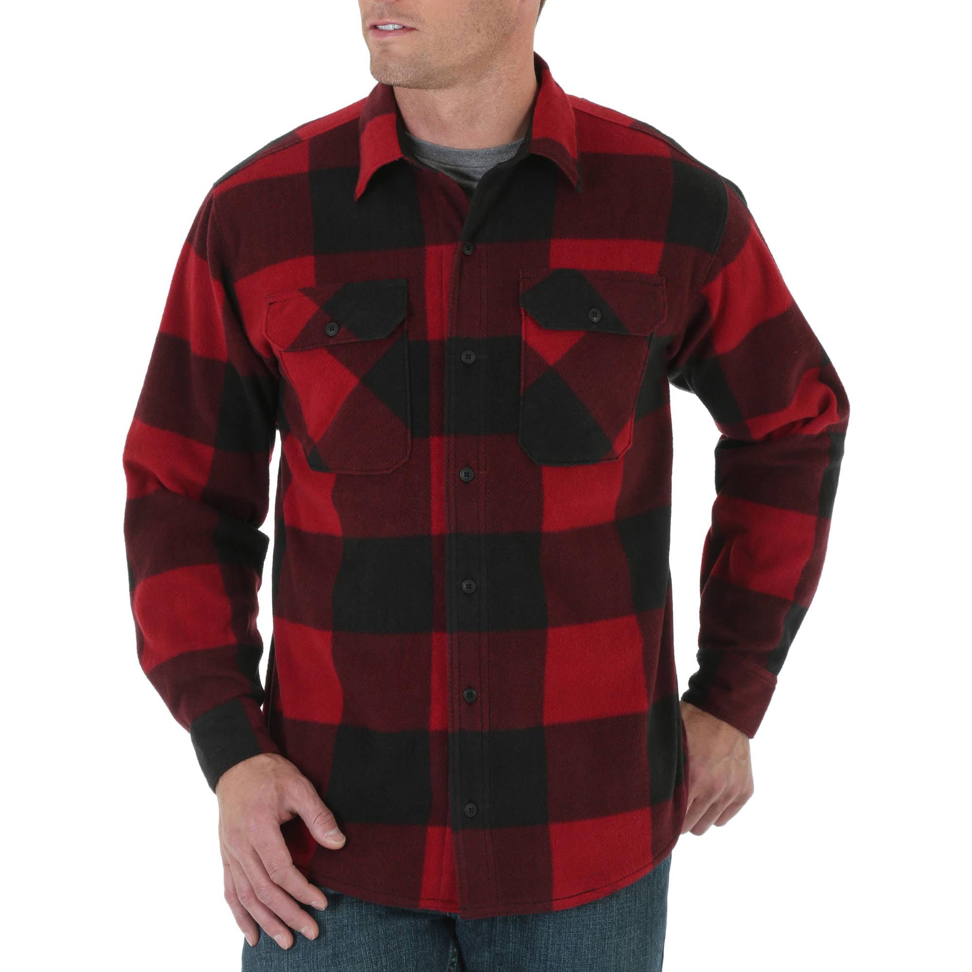 Wrangler Men's Long Sleeve Fleece Shirt
