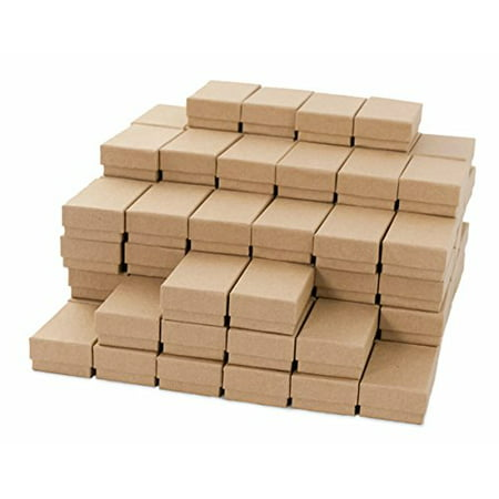 Kraft Cotton Filled Jewelry Box 21 Case Of 100 Size Count