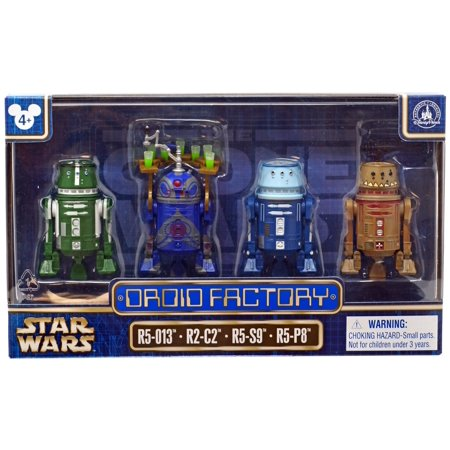 Star Wars The Clone Wars Droid Factory Action Figure 4-Pack [R5-013, R2-C2, R5-S9 &