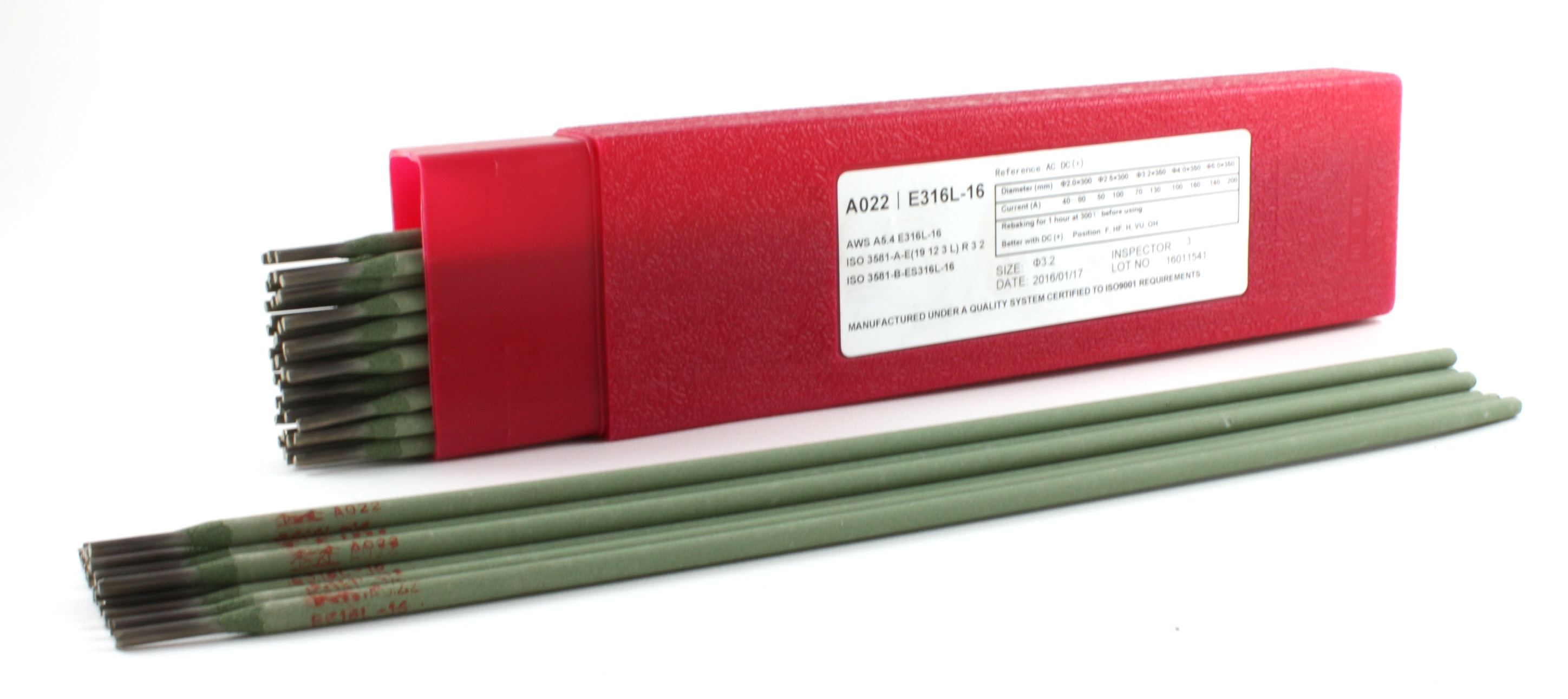 """Stainless Steel Electrode 1//2 LB 14/"""" x 1//8/"""" E316L-16"""
