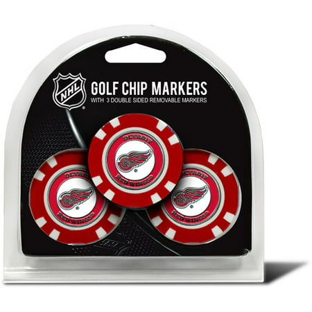 Tomas Holmstrom Detroit Red Wings - Team Golf NHL Detroit Red Wings 3 Pack Golf Chip Ball Markers