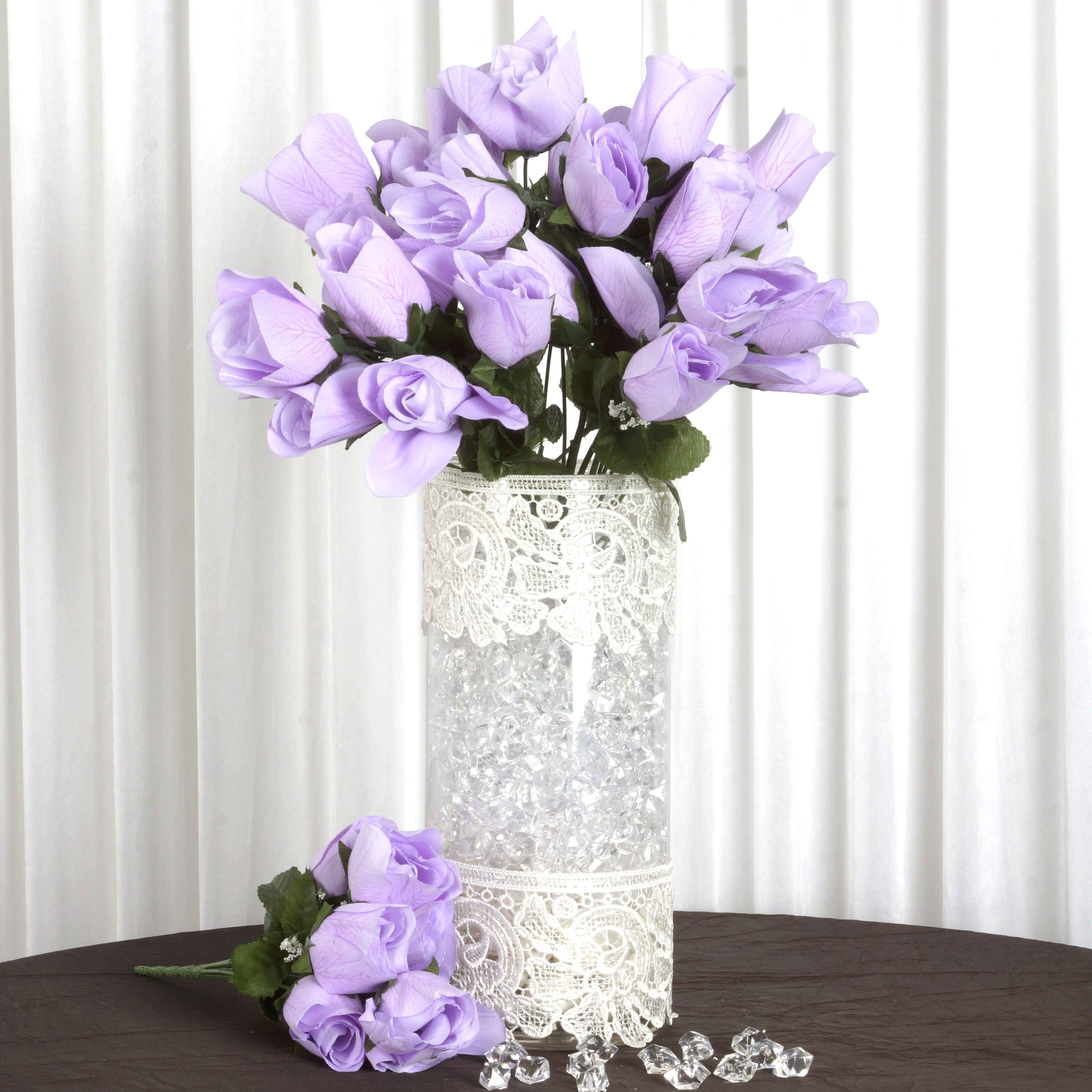 BalsaCircle 84 Velvet Rose Buds Flowers for Wedding Party ...