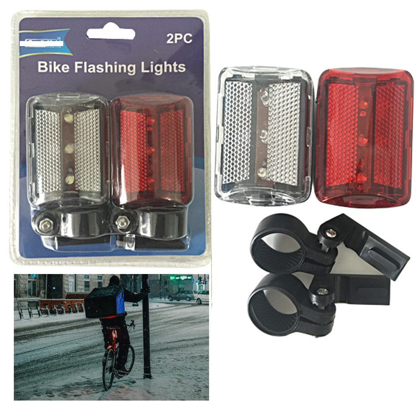 2X Bike Lights LED Bicycle Headlight Bike Lamp 2 Luminous Flashing Light