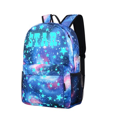 Fashion Galaxy School Bag Backpack Collection Canvas USB Charger for Teen Girls