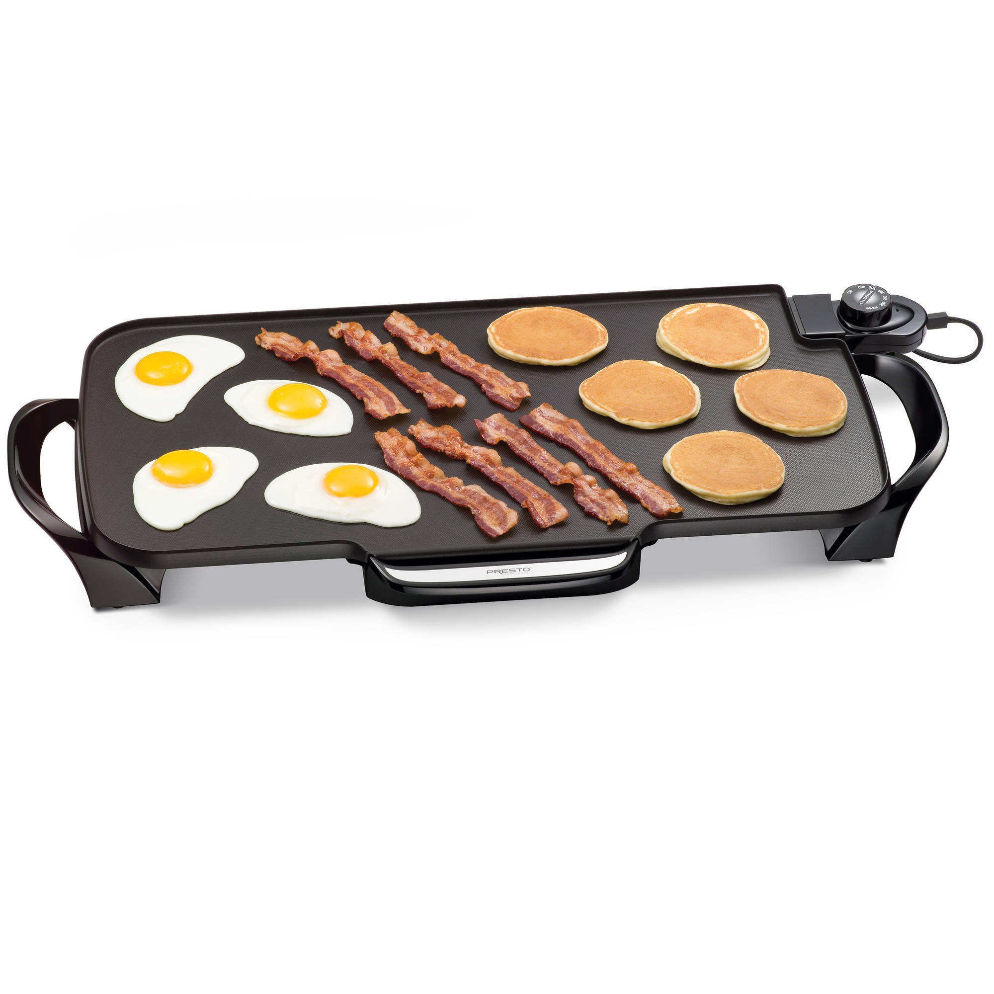 """Presto 07061 22"""" Electric Griddle with removable handles Black"""