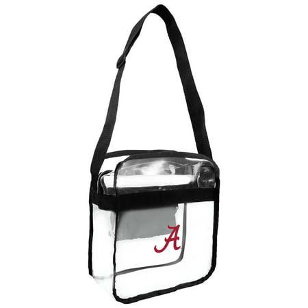University Cross Body (Little Earth - NCAA Clear Carryall Cross Body Bag, University of Alabama Crimson)