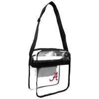 Little Earth - NCAA Clear Carryall Cross Body Bag, University of Alabama Crimson Tide