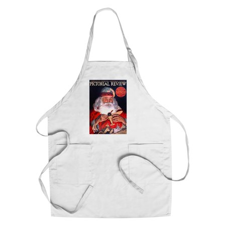 Pictorial Review - Beautiful Patriotic Christmas Number Vintage Poster (artist: Keller) USA c. 1918 (Cotton/Polyester Chef's Apron) ()