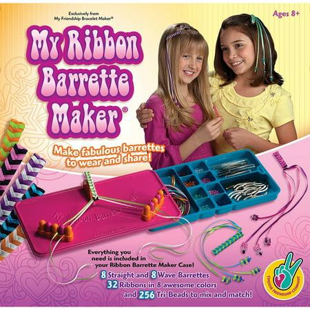 My Ribbon Barrette Maker Kit-Special Edition - Pink, Orange & Blue