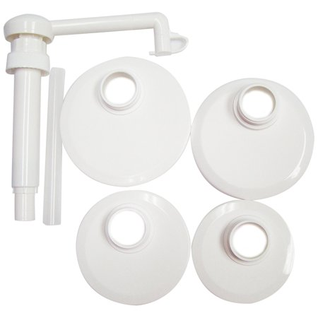 Action Pump J1-kit Food Pump Kit with Lids for Transfer of Ketchup, Sauces, (Pump Action Spring)