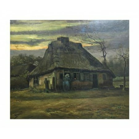 The Cottage Poster Print by Vincent Van Gogh (14 x 12) (12 X 14 Fine Art)
