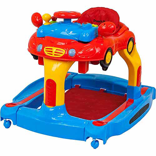 Dream On Me Joyride 3-in-1 Walker, Rocker and Push Toy, Red