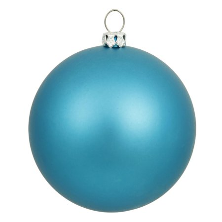 Matte Turquoise UV Resistant Commercial Drilled Shatterproof Christmas Ball Ornament 8 (200mm)