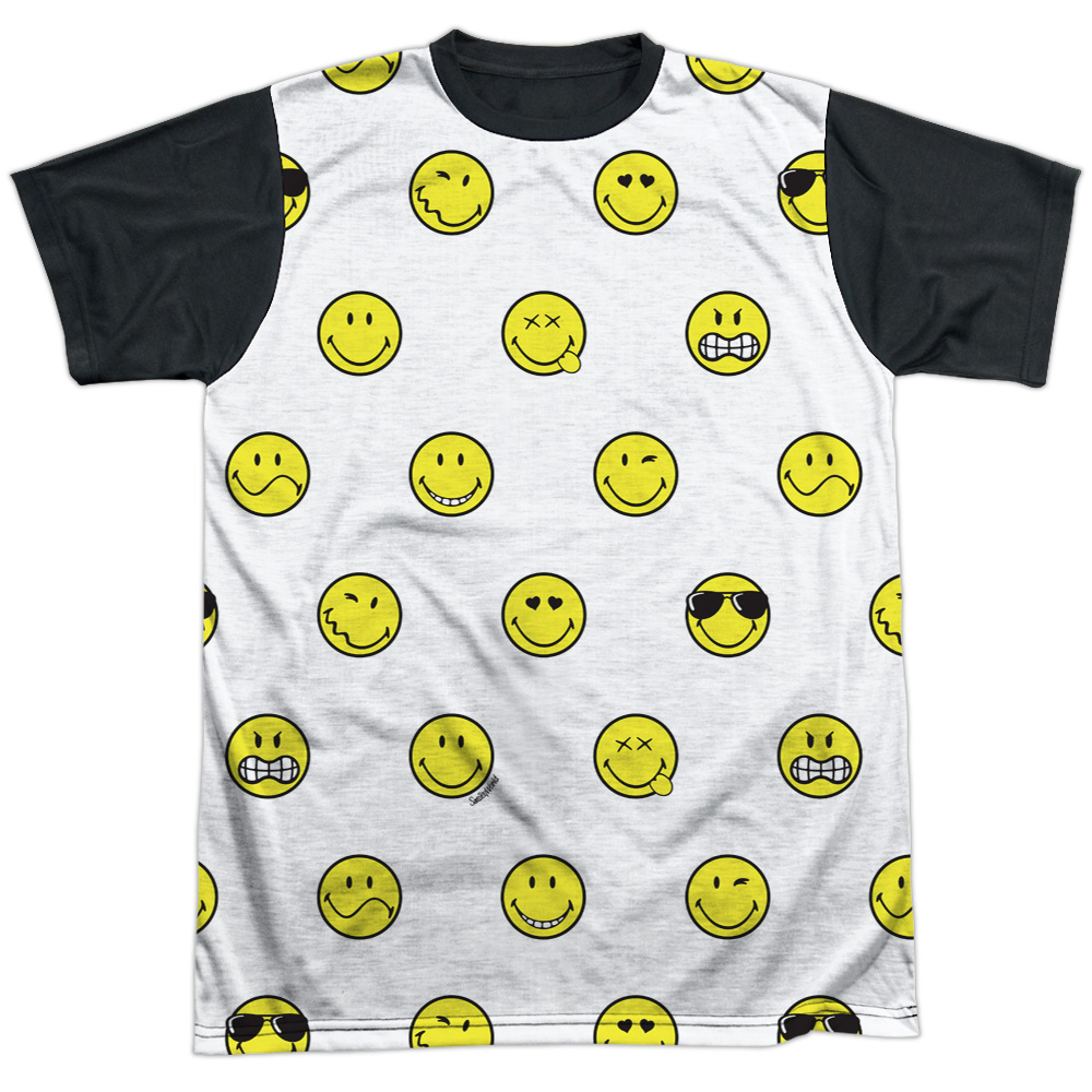 Smiley World Smiley Pattern Mens Sublimation Shirt