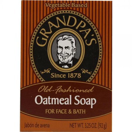 - Grandpa's Old Fashioned Oatmeal Bar Soap for Face and Bath, 3.25 Ounce
