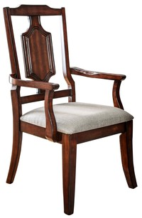 Ivarra Cut Out Back Dining Armchair by Furniture of America