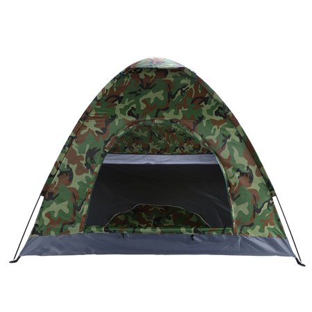3-4 Person Single Layer Camping Dome Tent Camouflage Outdoor Activities Hiking