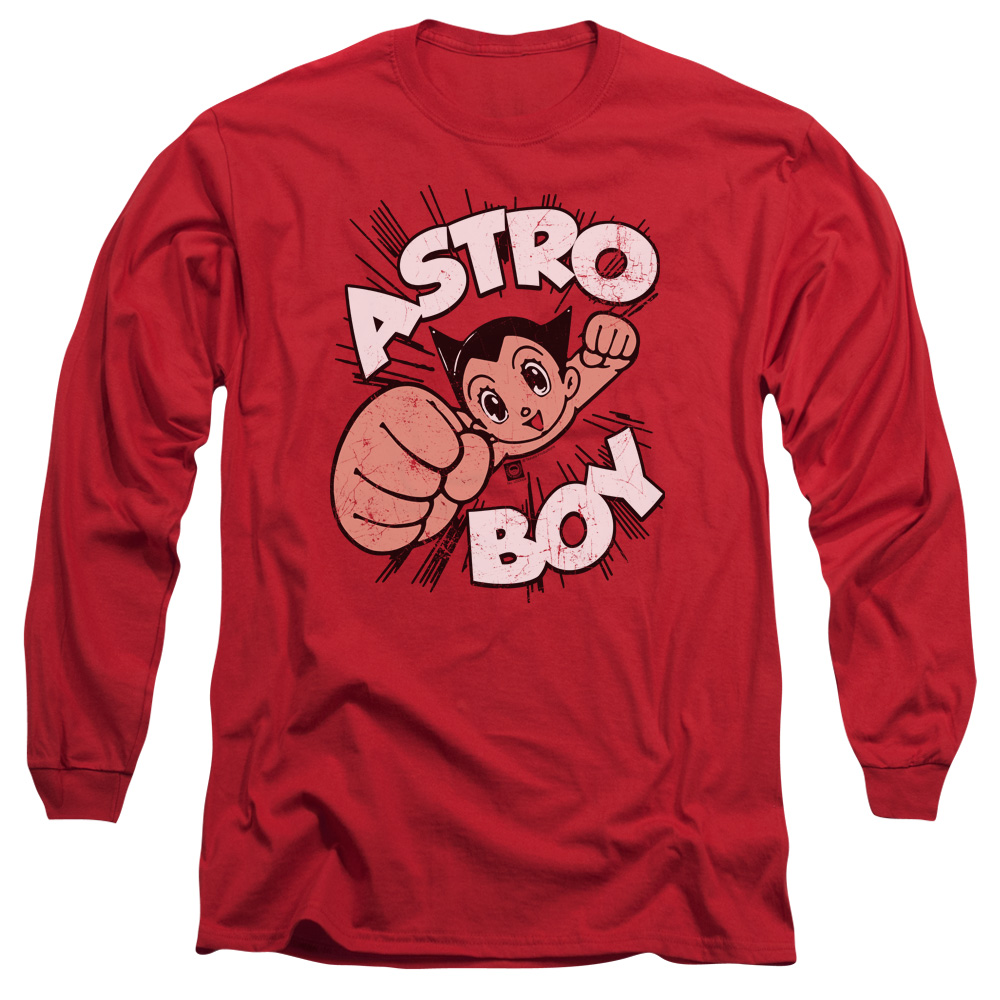 Astro Boy Flying Mens Long Sleeve Shirt