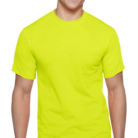 Crew Screen Print T-shirt - Men's Workwear Short Sleeve High Visibility Crew, 2-Pack